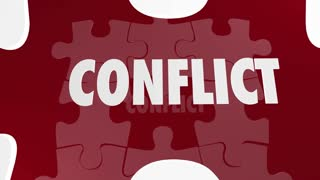 Conflict Resolved Fight Resolution Puzzle Piece 3d Animation