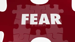Courage Vs Fear Puzzle Pieces Hole Bravery Afraid