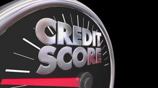 Credit Score Speedometer Better Improve Rating Number 3d Animation