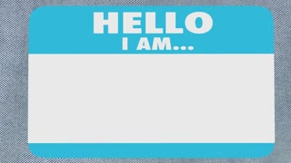 Curious Hello I Am Questioning Interested Name Tag 3d Animation