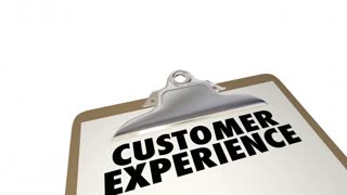 Customer Experience Survey Great Satisfaction Score 3d Animation