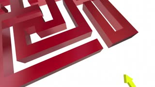 Dead End Sign Maze No Way Out Danger Warning 3 D Animation
