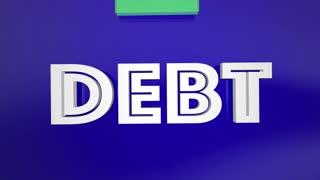 Debt Avoid It Save Money Budget Plan Arrow 3 D Animation