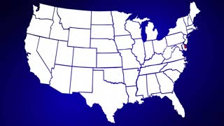 Deleware DE United States of America 3d Animated State Map