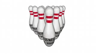 Disrupt Business As Usual Change Improve Bowling Strike 3d Animation