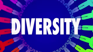 Diversity Colorful People Harmony Peace Together Animation 4K