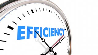 Efficiency Productivity Clock Word Work Results 3d Animation
