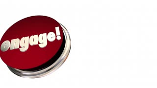 Engage Red Button Activate Interact Communicate 3d Animation