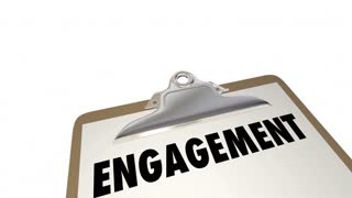 Engagement Checklist Clipboard Interact Invovlement 3d Animation