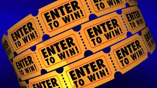 raffle tickets contest enter now win big 3 d animation motion