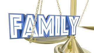 Family Vs Career Work Life Balance Job Scale 3 D Animation