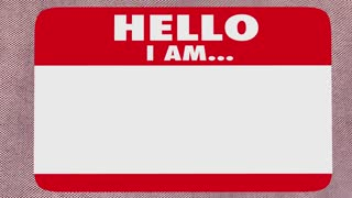 Famous Celebrity Hello Name Tag VIP 3d Animation