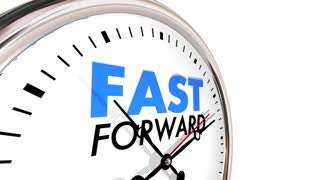 Fast Forward Clock Time Future Look Ahead 3d Animation