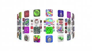 Free Apps Mobile Programs Software Applicaiton Store 3d Animation