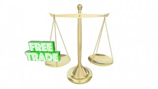 Free Vs Fair Trade Scale Import Export Weighing Choices 3 D Animation