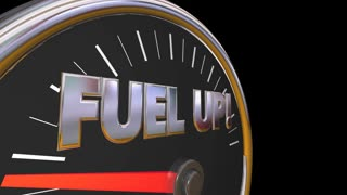 Fuel Up Gauge Gasoline Car Vehicle Needle Automotive 3d Animation