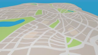 Geolocate Navigation Map Pin Spot Find Area 3 D Animation