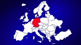Germany Europe Country Nation Map Zoom In Close Up Geography