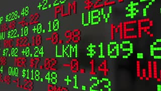 Global Economy Stock Market Ticker Trading 3 D Animation
