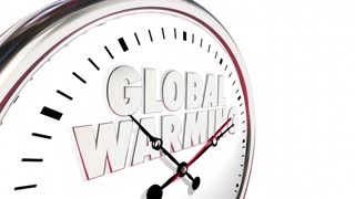 Global Warming Clock Temperatures Rising Climate Change 3d Animation