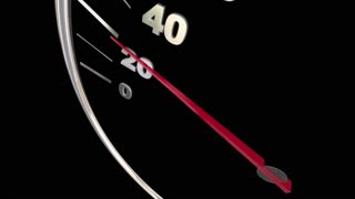 Great Score Finish Time Speedometer Words 3d Animation