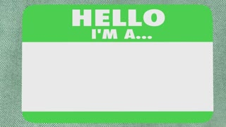 Hello Im a Success Name Tag Sticker Shirt 3d Animation