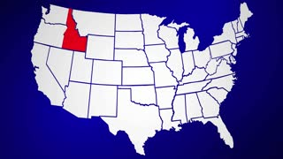 Idaho ID United States of America 3d Animated State Map
