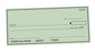 Incentive Money Check Reward Commission 3 D Animation