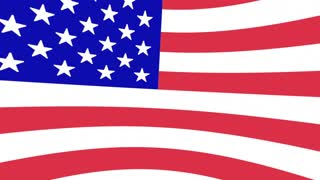 Indiana IN State Flag Map USA United America 3d Animation