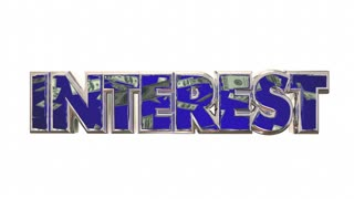 Interest Savings Rate Loan Money Borrow Debt Payment 3d Animation