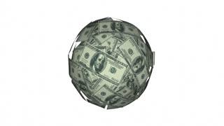 Invest Money Cash Stock Market Wall Street Dollar Sphere 4K