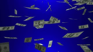 Its Your Money Cash Falling Hundred Dollar Bills Animation
