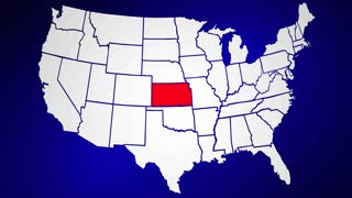Kansas KS United States of America 3d Animated State Map