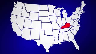 Kentucky USA State KY Map Economy Arrows Rise Improve D Animation - Kentucky usa map