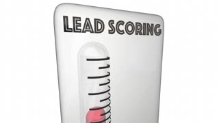 Lead Scoring Thermometer Customer Measurement 3 D Animation