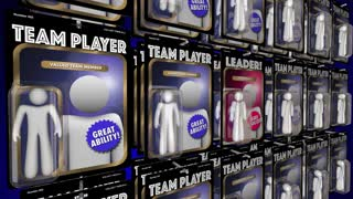 Leader Manager Team Player Action Figures 3 D Animation