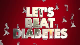 Let's Beat Diabetes Awareness Ribbons Fight Disease Campaign
