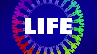 Life Appreciation People Around 3d Word Animation 4K