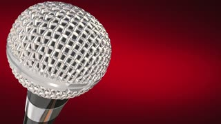 Live Report Microphone Breaking News Update Alert 3 D Animation