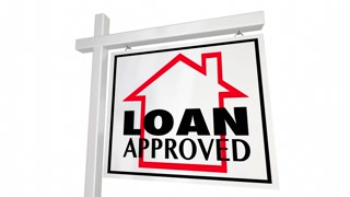 Loan Approved Mortgage Home For Sale Sign 3 D Animation