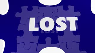 Lost and Found Puzzle Piece Locate Misplaced 3d Animation