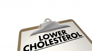 Lower Cholesterol Checklist Diet Exercise Medication 3 D Animation