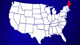 Maine ME United States of America 3d Animated State Map