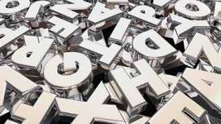 Meaning Secret Scrambled Message Letters Word 3 D Animation