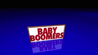 Millennials Generation X Baby Boomers People Signs 3d Animation