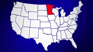 Minnesota MN United States of America 3d Animated State Map