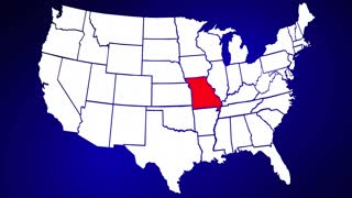 Missouri MO United States of America 3d Animated State Map