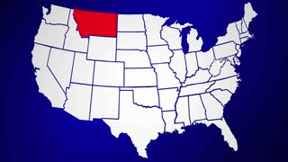 Montana MT United States of America 3d Animated State Map