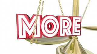 More Or Less Increase Lower Balance Scale Words 3 D Animation