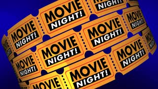 Movie Night Tickets Showtime Cinema Theater Film 3d Animation